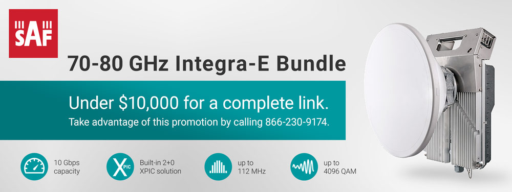 SAF Tehnika 70-80 GHz Integra-E Bundle Promotion