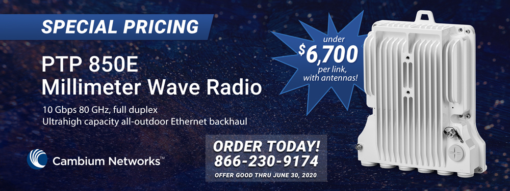 Special Pricing on Cambium PTP 850E MM Wave Radio